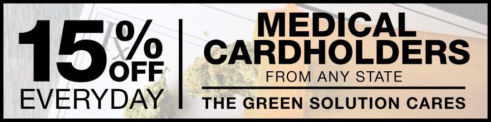Medical Card Holders get 15% Off at The Green Solution