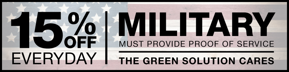 15% Off for Military at The Green Solution