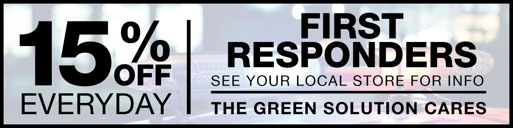 First Responders get 15% Off at The Green Solution