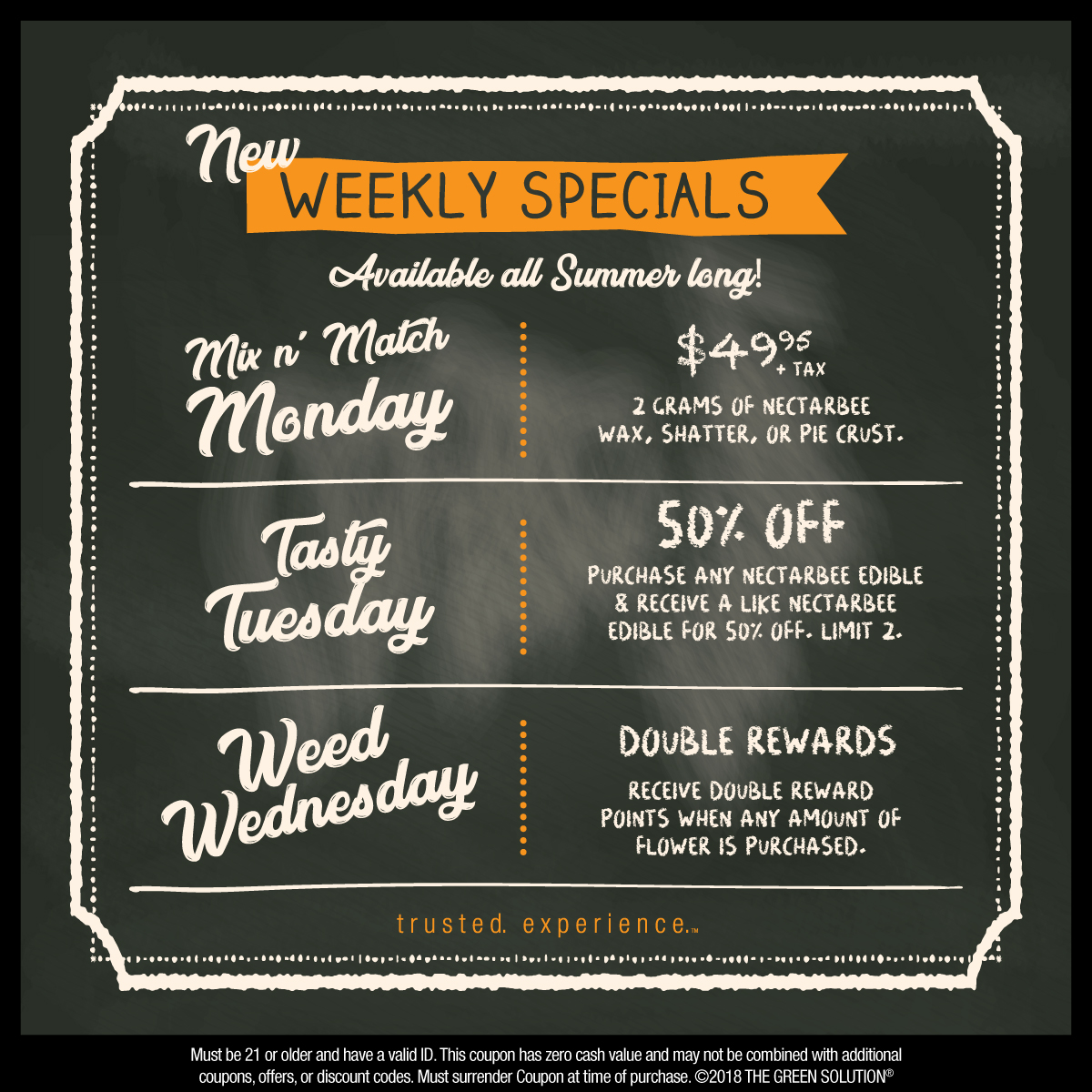 Weekly Specials at The Green Solution