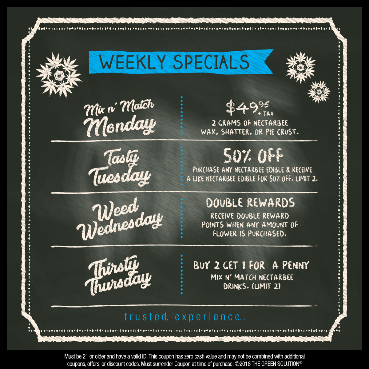 Weekly Specials at The Green Solution - Dec 3-9 Only!