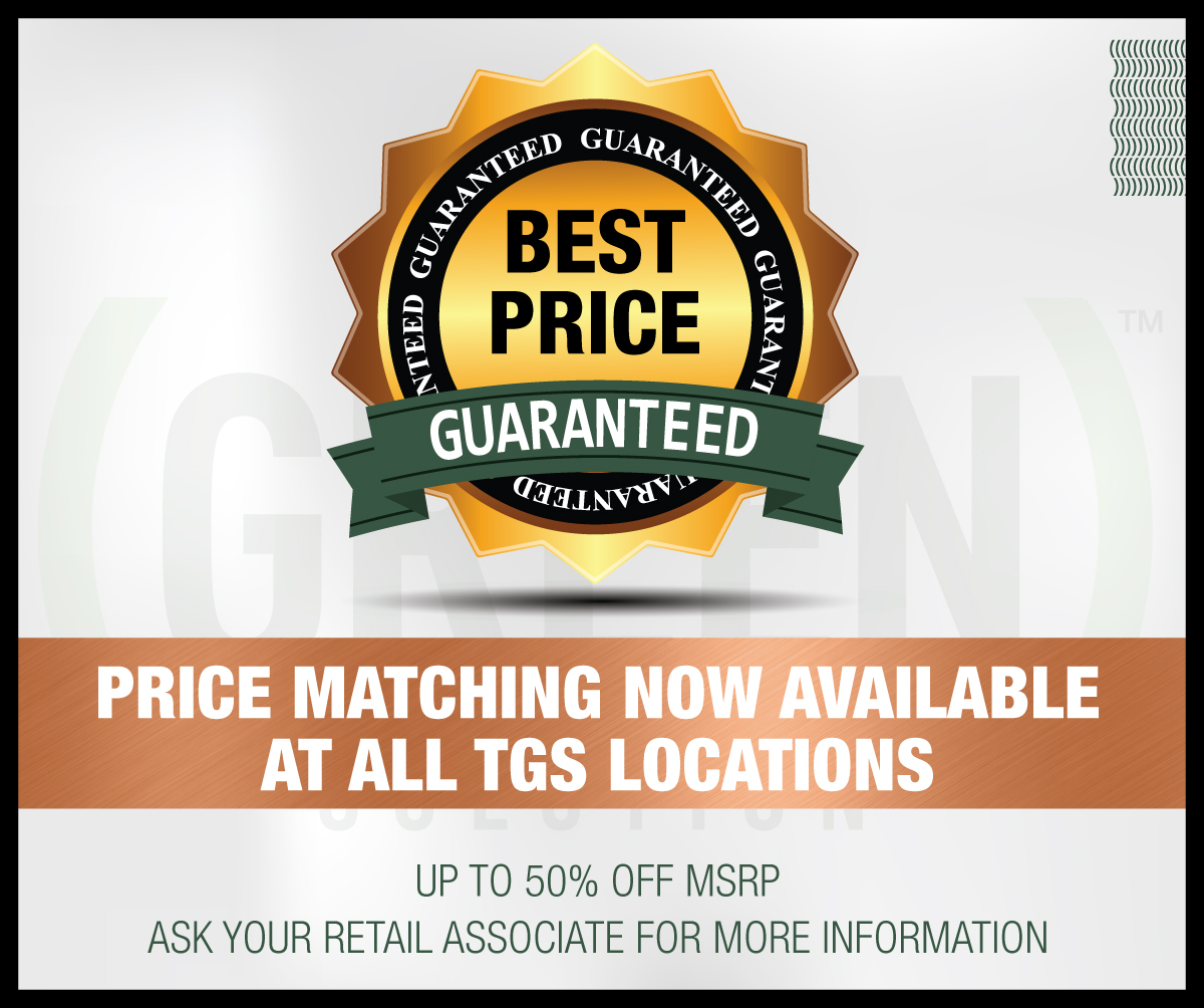 Price Match Guarantee at The Green Solution!