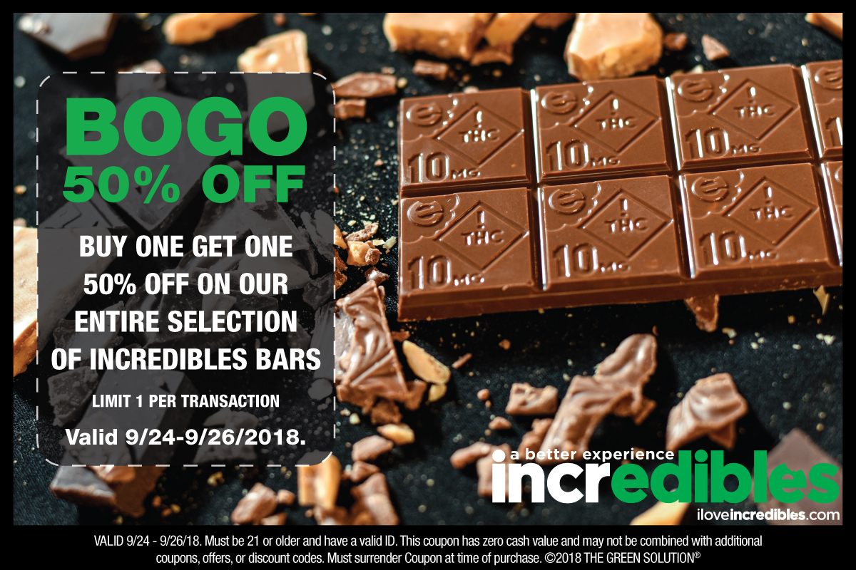 BOGO 50% Off Incredibles - Valid 9/24-9/26/2018