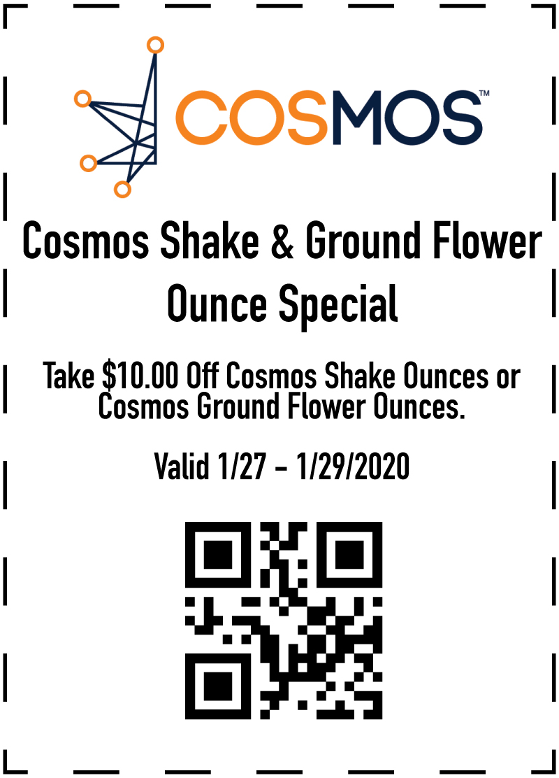 Cosmos Flower Special at The Green Solution Jan 27-29, 2020