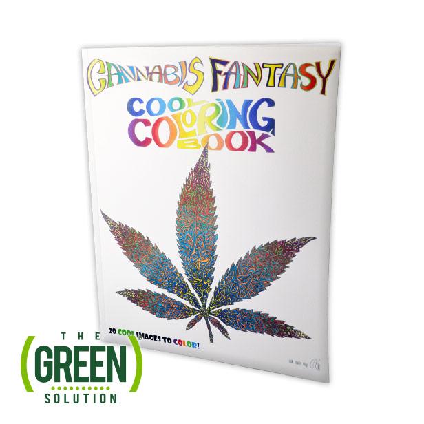 Cannabis Fantasy Coloring Book | The Green Solution – Recreational ...