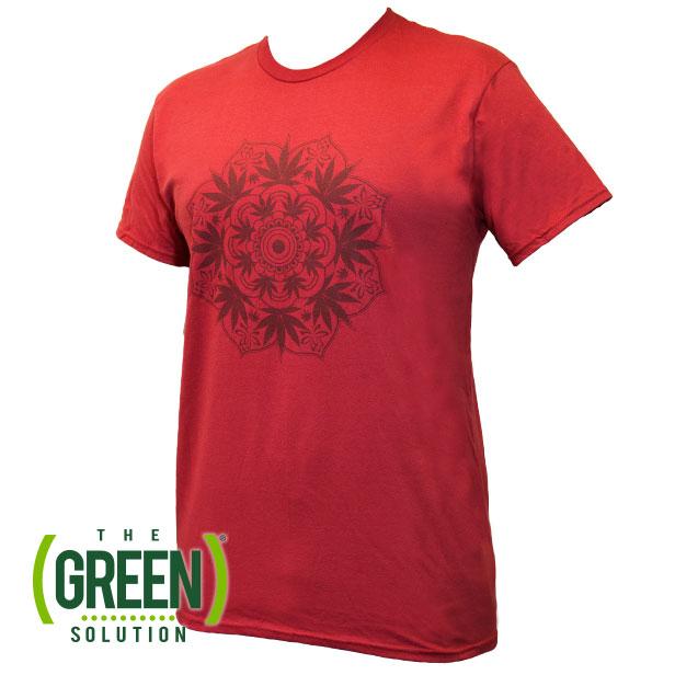 marijuana mandala t shirt
