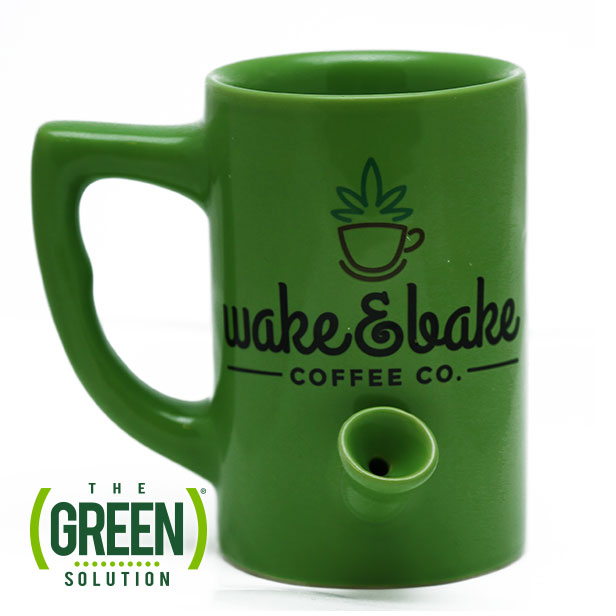 Wake nu0027 Bake Mug. Dual coffee mug and pipe.  sc 1 st  The Green Solution & Wake nu0027 Bake Mug | The Green Solution u2013 Recreational Marijuana ...