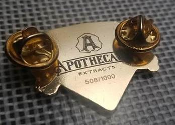 Apothecary Extracts Hat Pin (Front)