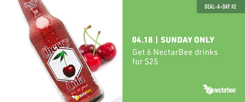 Get 6 NectarBee drinks for $25 only on sunday 4/18